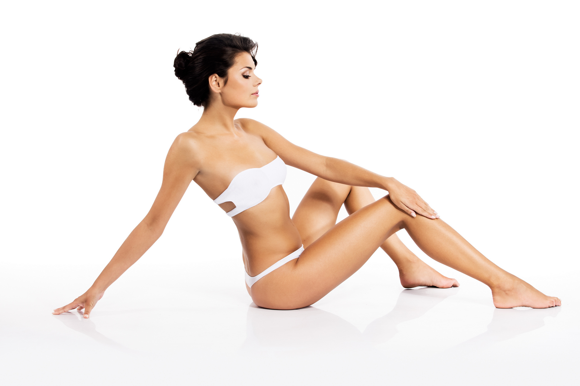 Beautiful woman with a perfect body - beauty and body care
